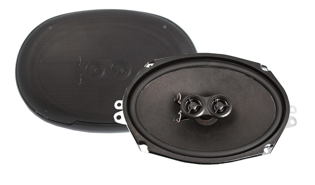 1978-82 Chevrolet Corvette 6x9-Inch 3-Way Rear Deck Speakers-RetroSound
