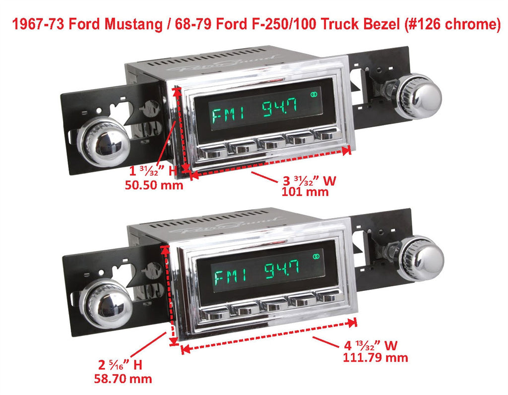 Chrome Mounting Bezels-RetroSound