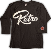 Official Retro Logo Raglan 3/4 Sleeve - Heather-RetroSound