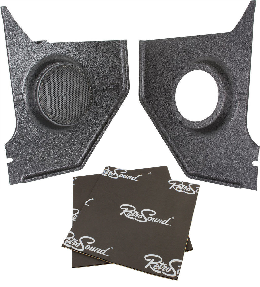 Retro Manufacturing Kick Panels with Deluxe Speakers KPC236872NA-652