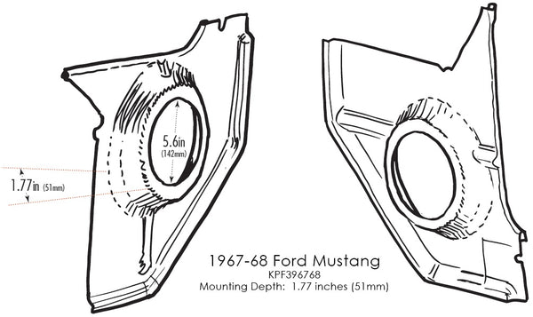 Kick Panels for 1967-68 Ford Mustang