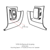 Kick Panels for 1970-76 Plymouth Scamp-RetroSound