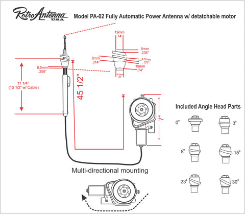 198596 Cadillac Fleetwood Fully Automatic Power Antenna RetroSound