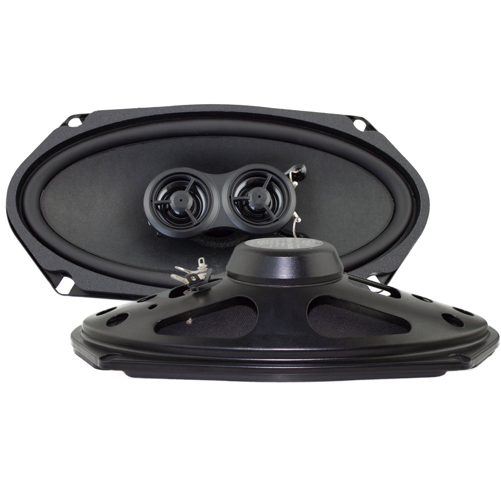 Stereo Replacement Speakers for 1965-68 Ford Mustang with Deluxe Factory Stereo System-RetroSound