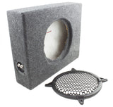 Sealed MDF Enclosure for Flat 8-inch Subwoofer with Grill-RetroSound