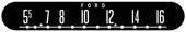 Ford Logo Vintage Dial Screens for Monterey SCP06-RetroSound