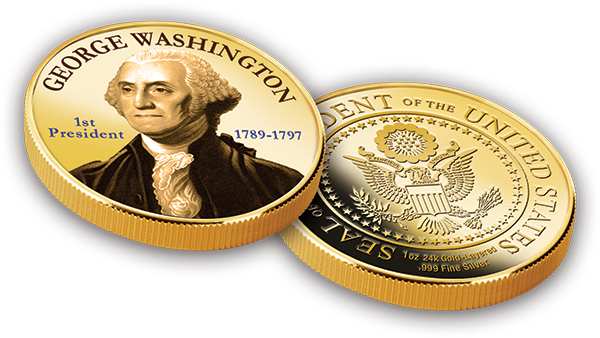U.S. Presidential Medallion Collection Subscription Program (2 Medallions Per Month)