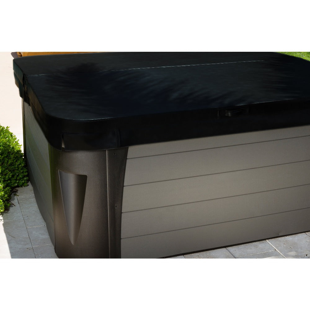Black Hot Tub Cover Installation