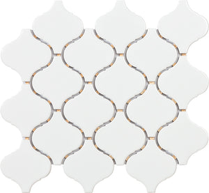 Procida Mosaics- Arabesque White Shiny