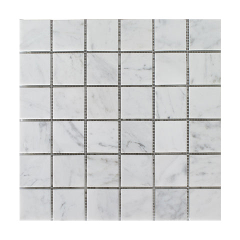 "Bianco Carrara Honed 2""x2"" Mosaic"