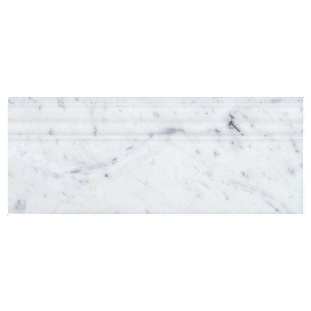 Bianco Carrara Polished Base Molding 5