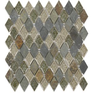 Art Glass Rustic Slate Diamond