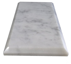 "Bianco Carrara Polished & Beveled 3""x6"""