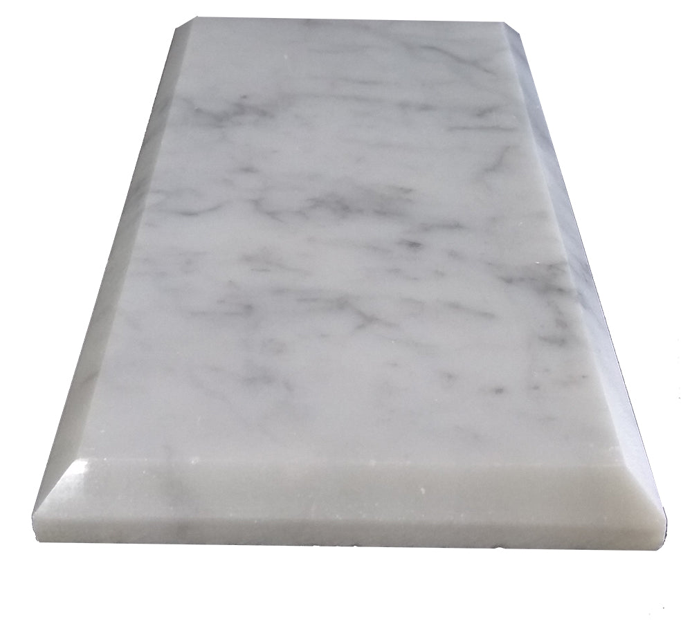 Bianco Carrara Polished & Beveled 3