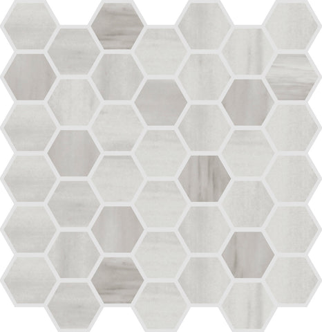 "ALCO- Evoque Grey 2"" Hexagon"
