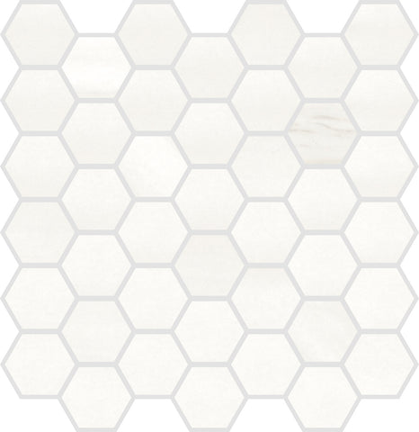 "ALCO- Evoque White 2"" Hexagon"