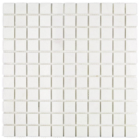 "White Thassos 1""x1"" Polished Mosaic"