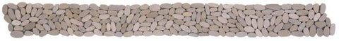 Bati Orient GABE12 Beige Matte Sliced Pebble Border 4x12