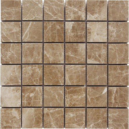 Light Emperador Polished 2x2 Mosaic