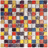 "Bati Orient- MAMI84 Mix Color Marble Mosaic 1""x1"""