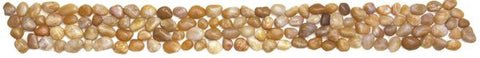 "Bati Orient- GABE04/30 Beige Polished Pebble Border 4""x12"""