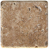 "Noce Travertine Tumbled 4""x4"""