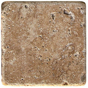 "Noce Travertine Tumbled 6""x6"""