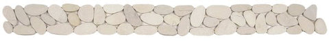 Bati Orient- GABL21 XL White Sliced Matte Pebble Border 4x12