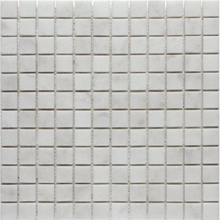 "Bianco Carrara Honed 1""x1"" Mosaic"