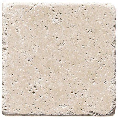 Light Travertine Tumbled 6x6