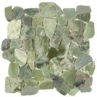 Bati Orient- GAVE03 Crystal/Ming Green Pebble Polished