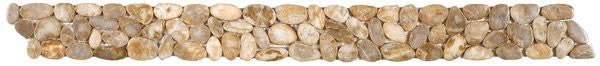 Bati Orient- GABE18/30 Beige Sliced Polished Pebble Border 4x12