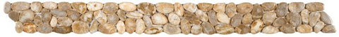 Bati Orient GABE18 Beige Sliced Polished Pebble Border 4x12