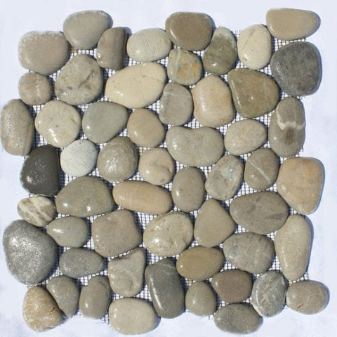 Bati Orient- GAGR07R Mix Grey/Beige Rectified Matte Pebbles