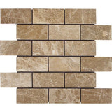 Light Emperador Polished 2x4 Mosaic