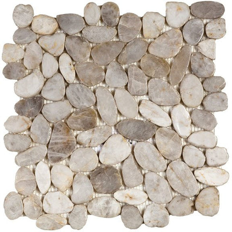 Bati Orient- GABL23 White Sliced Polished Pebble