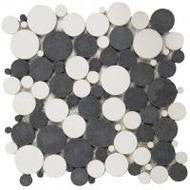 Bati Orient- PIMI07 White/Black Mix Bubble Marble Mosaic