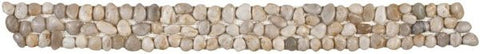 Bati Orient GABL04 White Polished Pebble Border 4x12