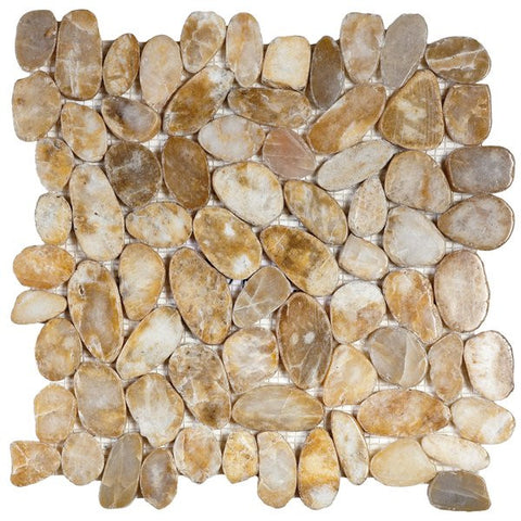 Bati Orient- GABE17 Beige Sliced Polished Pebble