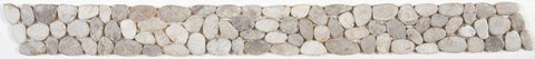 Bati Orient- GABL24 White Sliced Polished Pebble Border 4x12