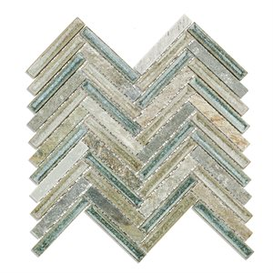 Art Glass Herringbone Quartz Sea