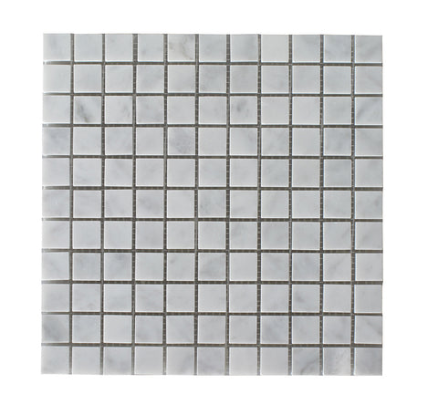 "Bianco Carrara Polished 1""x1"" Mosaic"
