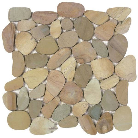 Bati Orient- GAJA04 Mix Golden Sliced Pebble Matte