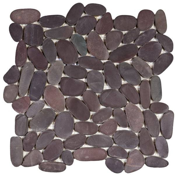 Bati Orient- GAMA13 Brown Sliced Matte Rare Stone Pebble Interlocking