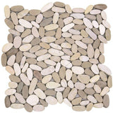 Bati Orient- GAMI36 White/Beige Sliced Pebble Matte