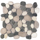 Bati Orient- GAMI62R Mix White/Black/Beige Rectified Pebble Matte