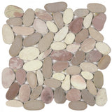 Bati Orient- GAMI78 White/Pink/Beige XL Sliced Matte Pebble
