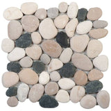 Bati Orient- GAMI82R Mix White/Grey/Beige Rectified Pebble Matte