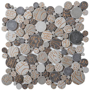 Bati Orient- PIMI20 Taupe Gold Penny Rounds