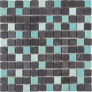 PIMI25- Black Stone Turquoise Ceramic Mix